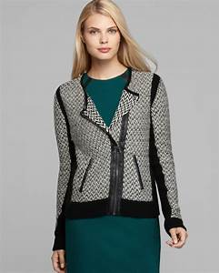 Lyst Vince Camuto Side Zip Sweater Jacket In Black