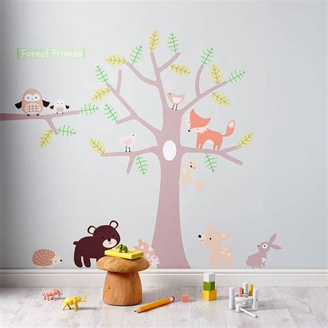 stickers deco chambre pastel forest wall stickers by parkins interiors