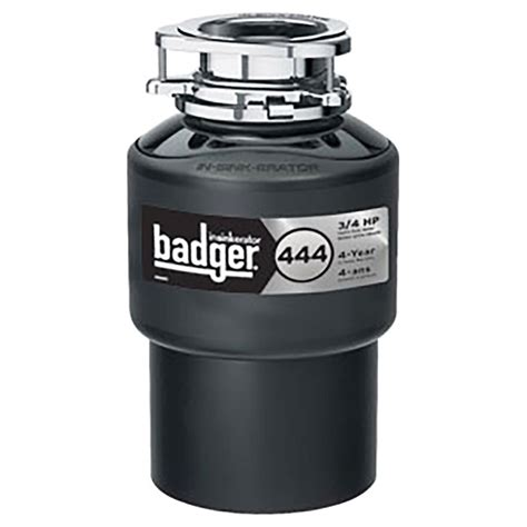waste disposer quot badger 444 quot food waste disposer rona