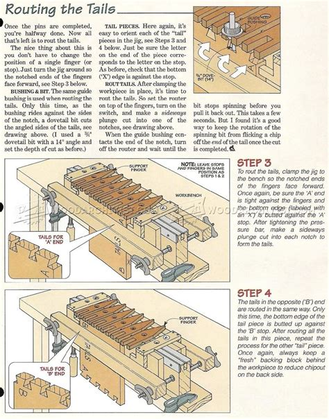 dovetail jig plans joinery tips jigs