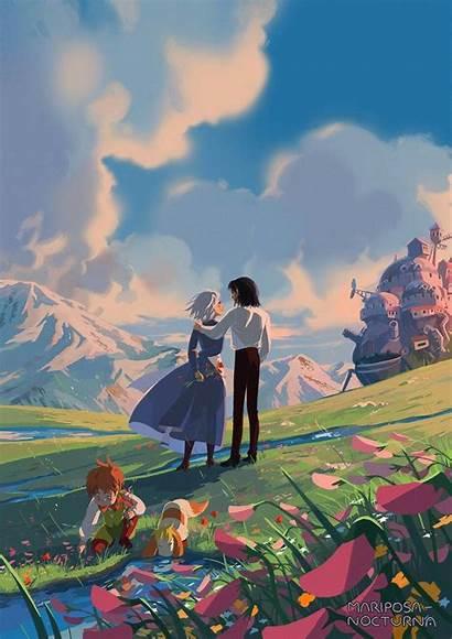 Ghibli Studio Moving Castle Anime Howl Howls