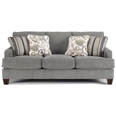 ashley furniture yvette steel stationary sofa  loose