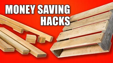 money saving hacks  woodworking  reclaimed