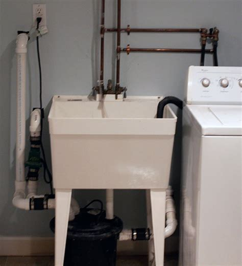 washing machine drains into sink washing machine in basement pump up help the wall