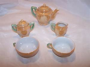 Miniature Tea Set Lusterware Japan Vintage
