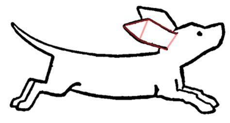 drawing cartoon dogs running  playing step  step