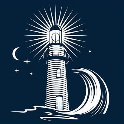 Lighthouse Vector Clip Illustration Wave Clipart Illustrations