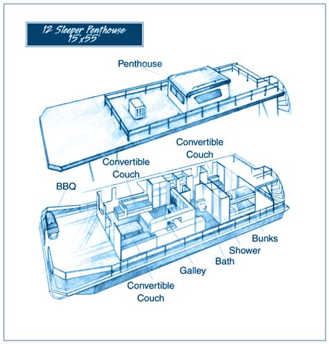Houseboat Layout by Rates And Reservations