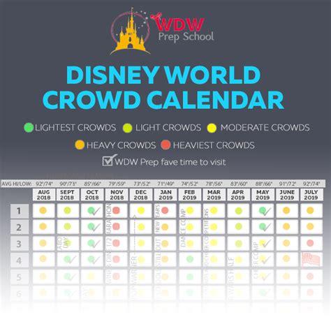 disney world   crowd calendar  times