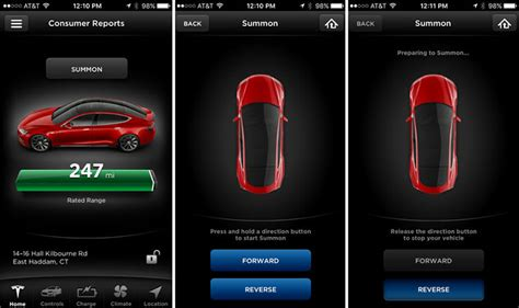 Tesla Car Apps by Tesla Model S Update Improves Safety Of Its Summon Feature