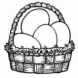Coloring Easter Basket Egg Colouring Pdf sketch template