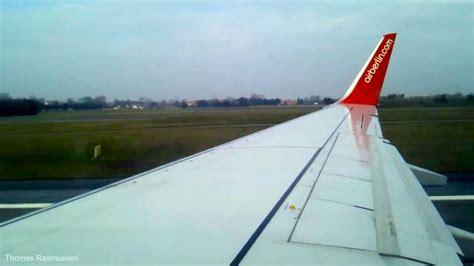 wing berlin air berlin boeing 737 700 wing view takeoff from copenhagen