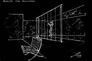 Barcelona Pavilion 2, sketch by aautio on DeviantArt