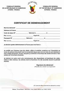 Déménagement Certificat Immatriculation : consulat du cameroun paris certificat de d m nagement ~ Gottalentnigeria.com Avis de Voitures