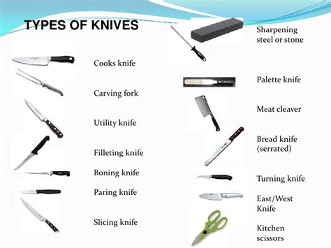 different types of kitchen knives and their uses knife skills