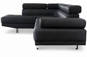 canape d39angle droit noir avec tetiere relevable tilpa With tapis ethnique avec canape d angle tetiere
