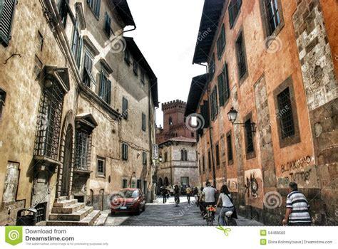 street  pisa italy editorial stock photo image