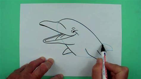 wie malt man einen delphin zeichnen fuer kinder youtube