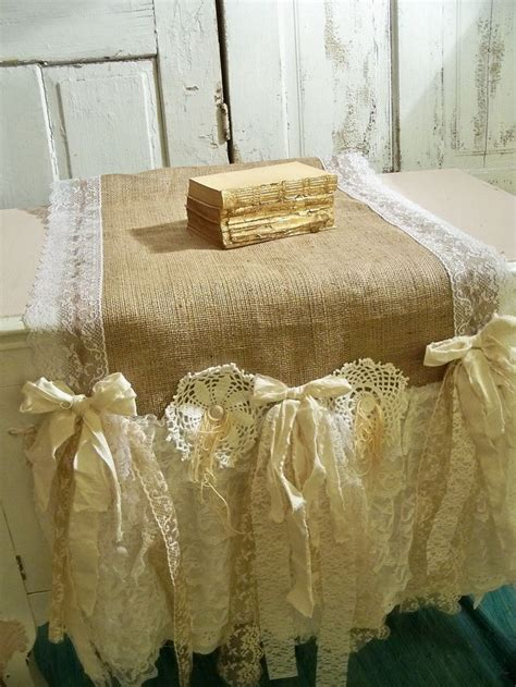 burlap shabby chic 1000 images about shabby chic table runners on pinterest runners french farmhouse and shabby