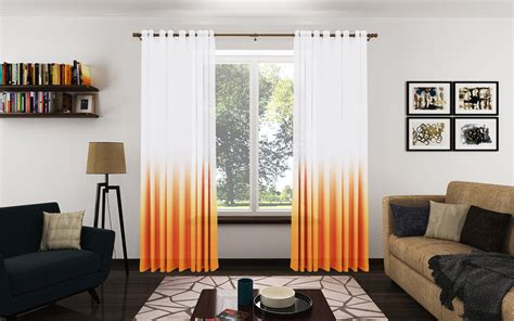 Trendy Orange Curtains For Living Room