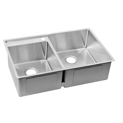 elkay stainless steel kitchen sinks elkay crosstown water deck undermount stainless steel 33 8866