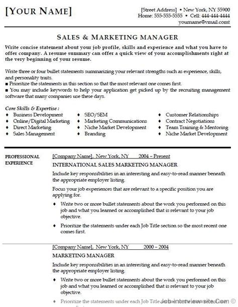 marketing manager resume objective http