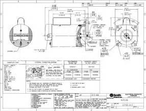 similiar ao smith fan motor wiring diagram keywords dimensions b2846 a o smith 1 2 hp centurion spa pump