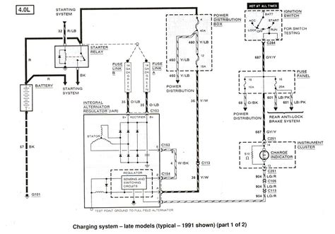 1998 ford ranger radio wiring diagram fuse box and