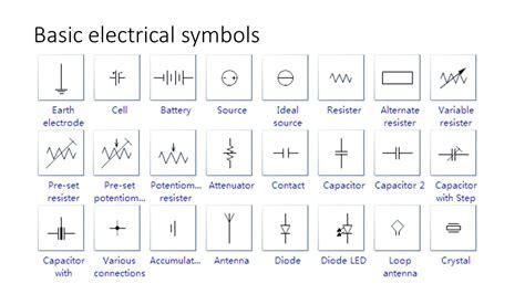 fashioned basic electronic symbols photos the best