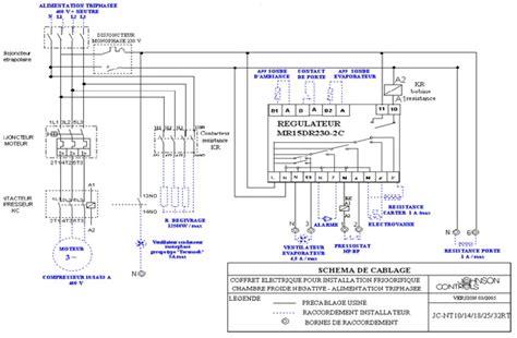 schema electrique chambre froide chauffage climatisation schema frigorifique chambre froide