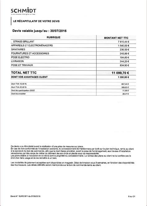 tarif cuisine schmidt avis sur implantation et tarif cuisine schmidt 43 messages