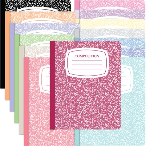 compsotion notebook template composition notebook covers