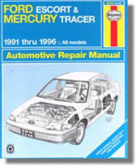car manuals free online 1996 mercury tracer engine control used haynes ford escort mercury tracer 1991 1996 auto repair manual