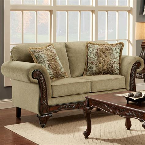 Affordable Loveseat by Affordable Furniture 8500 Traditional Loveseat With Rolled