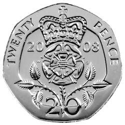 The Royal Badge of England 1p - 20p Coin - Mintage: TBC