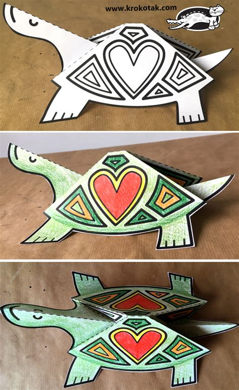 krokotak turtle paper craft