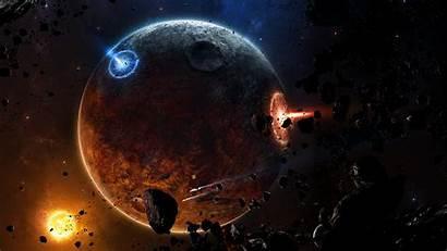 Space Planet Planets Destruction Asteroid Wallpapers Dead