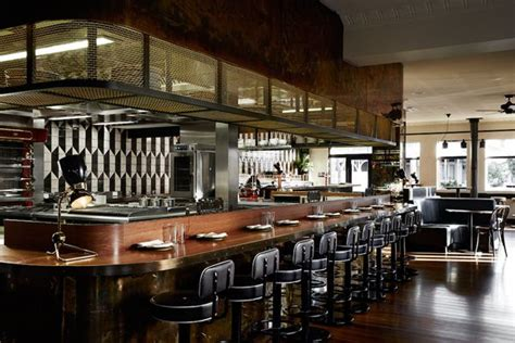 cuisine style bar melbourne restaurant fuses deco with modern