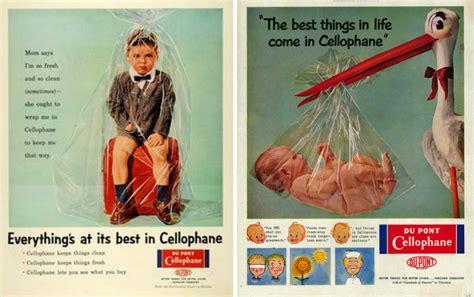 odd ads dupont cellophane ads history  zim
