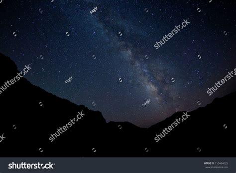 Milky Way Galaxy Night Sky Stock Photo