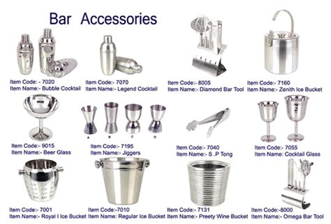 kitchen accessories names bar glasses names creepingthyme info 2138