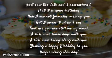 Alwa s leave you feeling wow. Birthday Message For Ex Gf