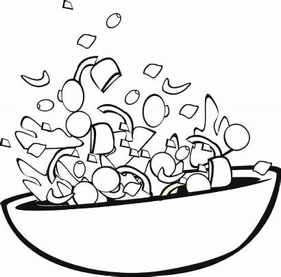 Coloring Pages Salad Sheets Faces Fruit Printable