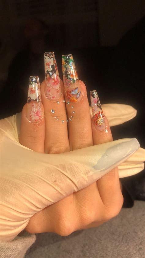 pinterest makemwhyo long acrylic nail designs cute