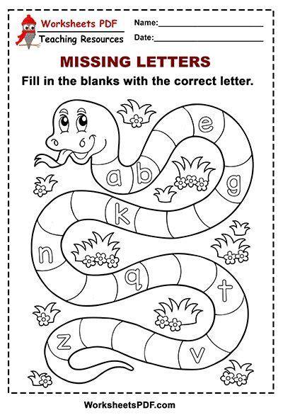snake alphabet missing letters  case