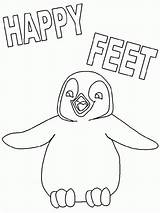 Feet Happy Coloring Pages Penguin Popular Getcolorings Printable sketch template