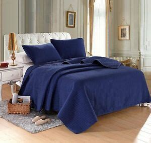 Solid Color Quilts And Coverlets navy blue solid color hypoallergenic quilt coverlet