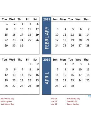 month calendar  quarterly calendar fourth quarter