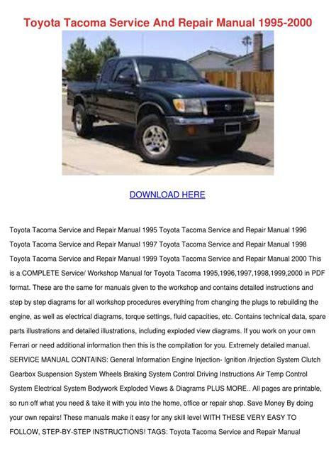 download car manuals 1998 toyota tacoma parental controls toyota tacoma service and repair manual 1995 by enda dito issuu