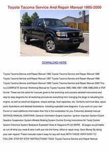 Toyota Tacoma Service And Repair Manual 1995 By Enda Dito